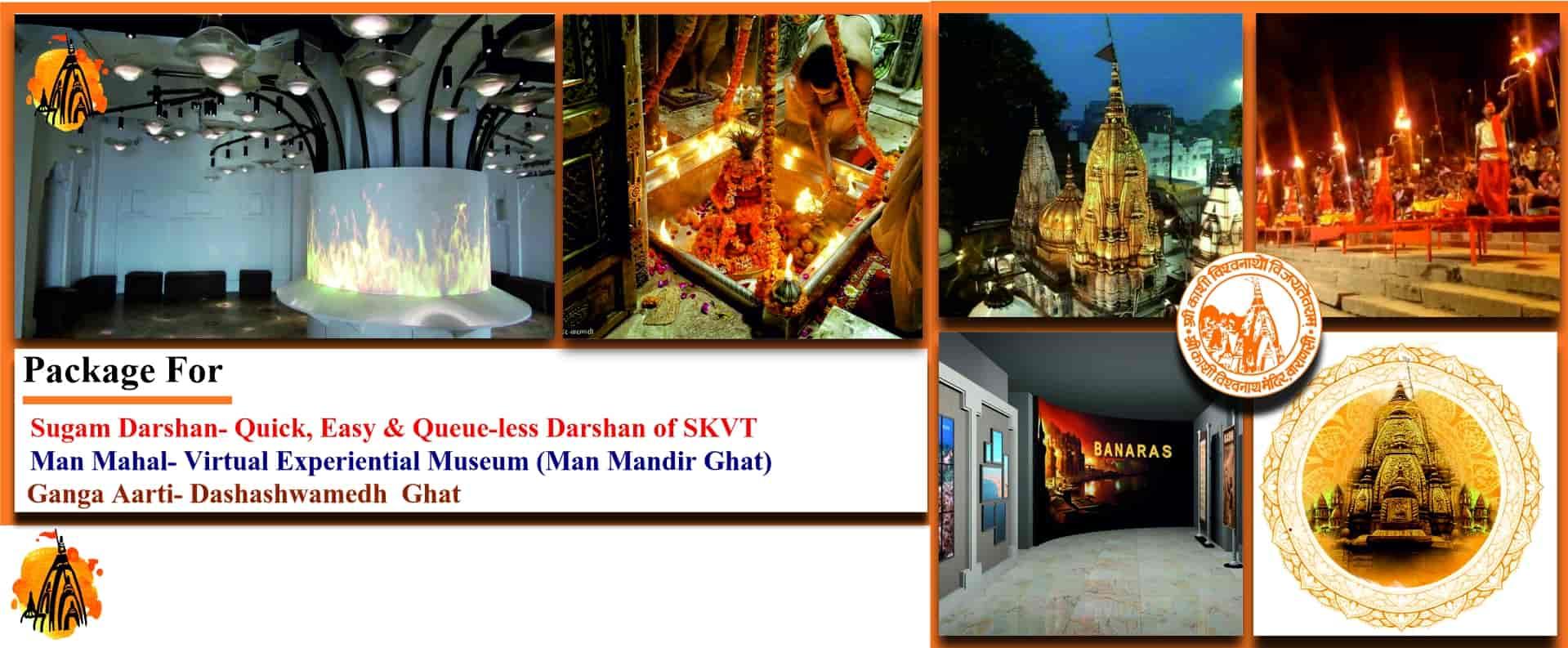 <span> Package Ganga Aarti, Man Mahal ,Sugam Darshan<br/>Coming Soon...</span>